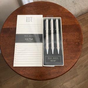 Rae Dunn List Pad and Pen Set
